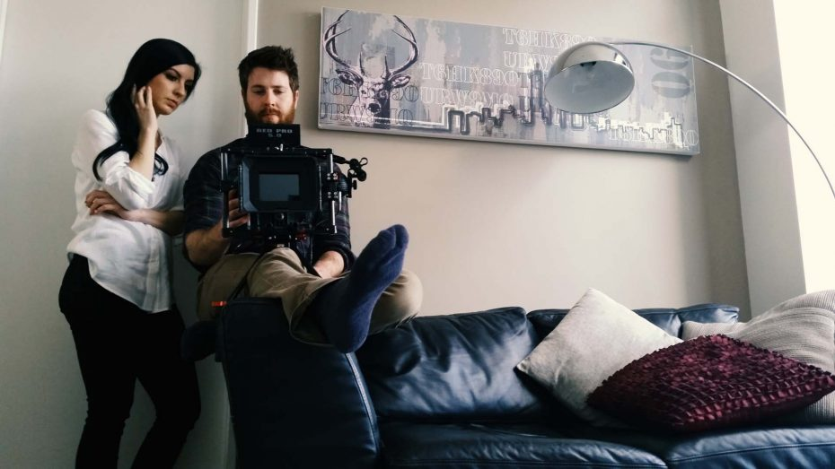 Reviewing a shot in Northbridge apartment