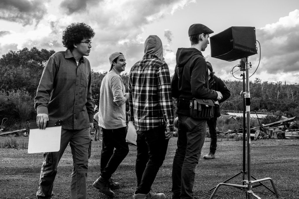 Film Crew on location in Nyamup